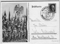 Ganzsache Sonderstempel Reichsparteitag Nürnberg 1937 - Parade/Marsch - Germania