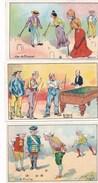 LOT / SERIE 3 Chromos Jeux Jeu De Boules Pétanque Billard Croquet Draperies David Pradier Rue Des Gras CLERMONT FERRAND - Other