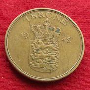 Denmark 1 Krone 1948  Dinamarca Danemark Danimarca Wºº - Denmark