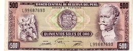 Peru P.110  500 Soles 1975 Xf - Peru