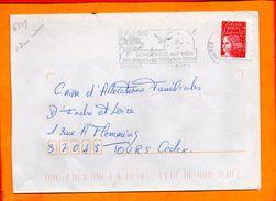 VENDEE, Longeville Sur Mer, Flamme SCOTEM N° 6539, Dateur Inversé - Marcophilie (Lettres)