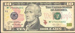 USA 10 Dollars 2013 F UNC # P- 540 F - Atlanta GA - Federal Reserve Notes (1928-...)