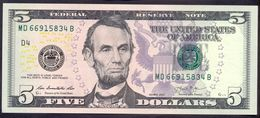 USA 5 Dollars 2013 D UNC # P- 539 D - Cleveland OH - Federal Reserve Notes (1928-...)