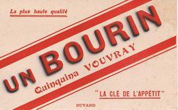 "ANCIEN BUVARD "" BOURIN "" Quinquina VOUVRAY - Liquor & Beer"