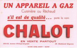 """ANCIEN BUVARD """" CHALOT """" - Appareil à Gaz - Cuisinière Ou Réchaud - Electricity & Gas"""
