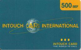 CARTE-+PREPAYEE-BELGE-INTOUCH CARD-500 BEF-BLEU/VERT-TBE - Belgique