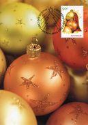 """Entier Postal De 2009 D'Australie Sur CP Avec Timbre Et Illust. """"Boules De Noël"""" - Noël"""