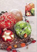 """Entier Postal De 2008 D'Australie Sur CP Avec Timbre Et Illust. """"Boules De Noël"""" - Noël"""