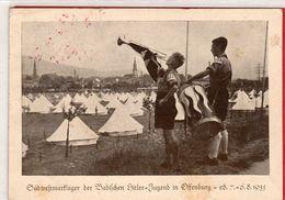 AK Südwestlager Der Badischen HJ In Offenburg - Frankatur Propagandastempel 1935 - Guerra 1939-45