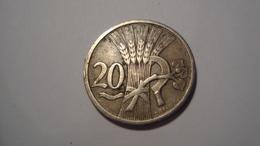 MONNAIE TCHECOSLOVAQUIE 20 HALERU 1921 - Czechoslovakia