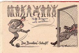 Feldpostkarte - Der Bomben - Schuß ! - Stempel Feldpost 1944 - Guerra 1939-45