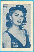 SOPHIA LOREN - Yugoslavian Vintage Card 1960's ** Italy Film Actress Italia Movie Star RRRR - Cinema & TV