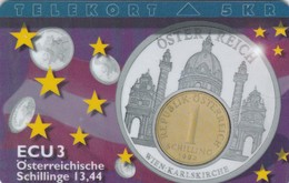 Denmark, P 117,  ECU-Austria,  Mint, Only 700 Issued, Coin, Flag, 2 Scans. - Denmark