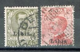 Italienisch-Libyen 1917-18 Freimarken Sassone 18, 19 Gestempelt - Libya