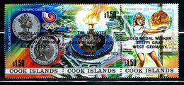 "Cook Islands    ""Olympic Games Seoul""   Overprinted   Strip Of 3    SC# 1000    MNH   SCV$ 12.00 - Zomer 1988: Seoel"