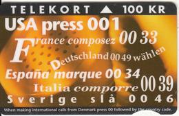 DENMARK - New International Codes, Tirage 20000, 05/94, Used - Denmark