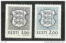 ESTLAND Estonia Estonie 1991 Wappen Coat Of Arms Michel 172 - 173 MNH - Estland