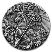 2016 Tuvalu 2 Oz Silver Norse Gods - One (High Relief). - Tuvalu