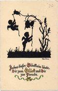 SILHOUETTE POSTAL CARD Of Fairy Tale By Walter Schenke - Silhouette - Scissor-type