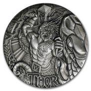 2016 Tuvalu 2 Oz Silver Norse Gods-Tor (High Relief). - Tuvalu