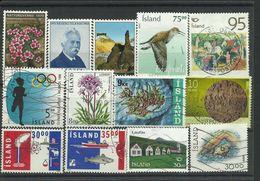 Iceland - Bulk Lot Of 13 Stamps - Pkt. 135 - Islande