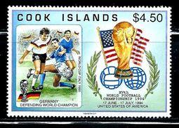 "Cook Islands     ""1994 World Cup Soccer""      Set    SC# 1148    MNH    SCV$ 8.00 - Islas Cook"