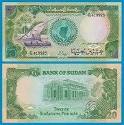Sudan - 20 Pounds Banknote 1987 Pick 42a UNC   (18605 - Billetes
