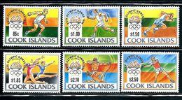"Cook Islands     ""1996 Olympic Games Atlanta""      Set    SC# 1203-08     MNH    SCV$ 17.75 - Summer 1996: Atlanta"