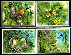 "Cook Islands     ""Birds""  Overprinted    4 Souveenir Sheets    SC# C24-27    MNH      SCV$ 19.50 - Cook"