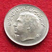 Iran 1 Rial 1972 / 1351 KM# 1183 Fao F.a.o. Lt 206 Irão Persia Persien - Iran