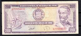 PERÚ 1974  200 SOLES DE ORO. RAMON CASTILLA  EBC   B064 - Peru