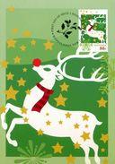 """Entier Postal De 2012 D'Australie Sur CP Avec Timbre Et Illust. """"Renne Au Nez Rouge Et Etoiles"""" - Noël"""