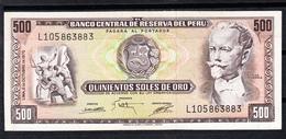 PERÚ 1975  500 SOLES DE ORO.NICOLAS DE PIEROLA   PLANCHA.NUEVO SIN CIRCULAR  B067 - Peru