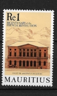 MAURITIUS  1989 The 200th Anniversary Of The French Revolution * - Maurice (1968-...)