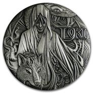 2016 Tuvalu 2 Ounces Silver Norwegian Gods - Loki (High Relief). - Tuvalu