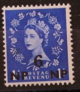 British Agencies Eastern Arabia / Oman /Muscat MNH Stamp 6 NP SG 67 1955 -1957 Queen Elizabeth Great Britain Surcharged - Oman