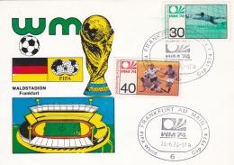 Germany Card 1974 FIFA World Cup Football  -    Frankfurt Am Main    (DD11-36) - Coppa Del Mondo