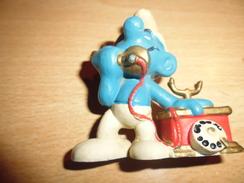 Schtroumpf Telephone-schleich 1980 Peyo - Smurfen