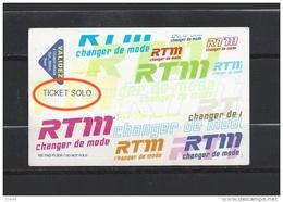 Carte De Bus : Régie Des Transports De Marseille. Ticket Solo. (Voir Commentaires) - Bus