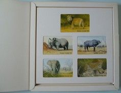 SOUTH AFRICA - The Big Five - Lion, Rhinoceros, Leopard, Buffalo & Elephant - Mint In Folder - Afrique Du Sud