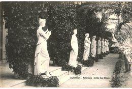 CPA N°16611 - LOT DE 2 CARTES DE CORFOU - ALLEE DES MUSES + ACHILLEION - LE JARDIN - Grèce