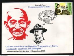 India  2007   Mahatma Gandhi  Baden Powell  Centenary Scouting Jumboree  Cover # 05544  D - Scouting