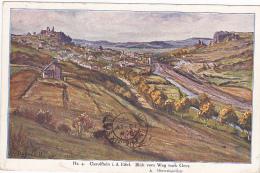 Carte Illustrée Par W Degode (Mineralquellen) - Gerolstein I. D. Eifel - Blick Vom Weg Nach Gees - Circ 1921 - Gerolstein