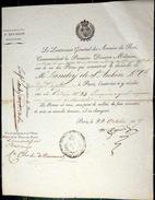 AFFECTATION  DE DOMICILE AU COLONEL DE SAINT AUBIN SIGNEE PAR CHARLES BONNIN De LA BONNIERE De BEAUMONT 1817 ET ST AUBIN - Documents