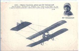 AVIATION - Mme DRIANCOURT - Biplan Caudron - Airmen, Fliers
