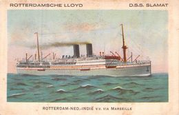 "C P A Paquebot Bateau "" Lamat  "" Rotterdamsche Lloyd - Piroscafi"