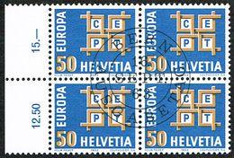 EUROPA BLOC DE 4 OBLITERE 1er/J.16.9.1963. C/.S.B.K. Nr:401. Y&TELLIER Nr:716. MICHEL Nr:781. - Schweiz