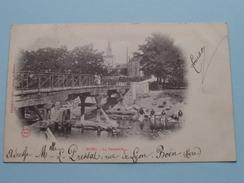 BOEN ( Boën ) - La Passerelle ( AB & C° ) Anno 1906 ( Voir Photo Svp Pour Détail ) ! - Francia