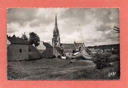 BOURBRIAC  N°  2  EGLISE  VUE DU KOZ-CASTEL   An: Vers 1950  Etat: Bon  (*)   Edit:  Artaud - Autres Communes