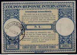 BURUNDI London Type XVa  Fr. 6 Intern. Reply Coupon Reponse IRC IAS Antwortschein BELGISCH CONGO BELGE O USUMBURA 5.6.58 - 1948-61: Briefe U. Dokumente